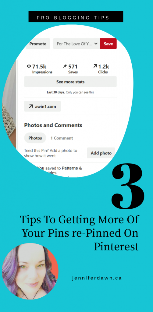 3 Tips To Getting More Of Your Pins Re-Pinned On Pinterest. Do these 3 things and see an increase in pin saves, pin clicks , website visits and sales! How To Use Pinterest // Pinterest Marketing Strategies