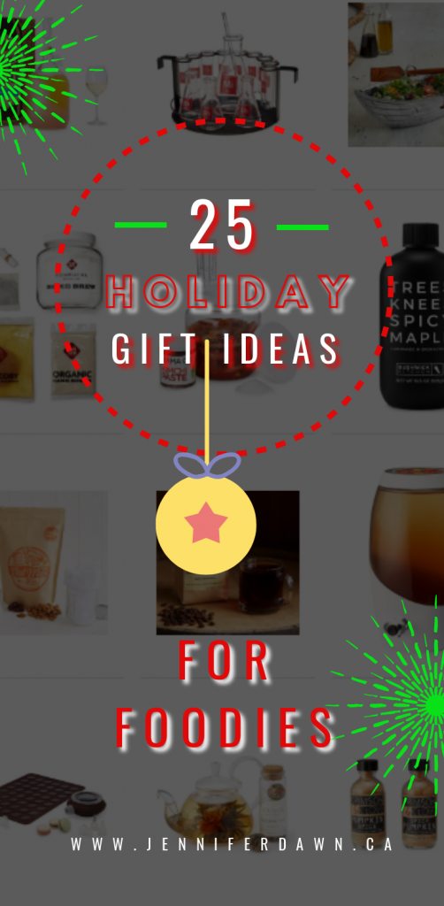 Have a Foodie on you Christmas Gift List this year? Check out this list of 25 Awesome Gift Ideas For Foodies! #foodie #giftidea #holidaygiftguide Christmas Gift Ideas For Co Workers // What to Buy A Foodie For Christmas // Gift Giving Ideas For Christmas 2018