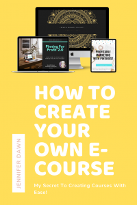 Learn How To Create Your Own E-Course! My Secret to easily creating e-courses! Blogging tips for Beginners / Passive Income Ideas #bloggingtips #entrepreneur