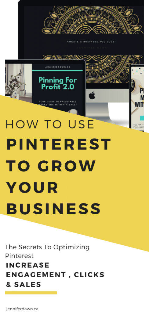 How To Use Pinterest To Grow Your Business - The Secrets To Optimizing Pinterest to increase engagement, clicks and sales for your business. Pinterest marketing strategies and tips for growing your business online #pinterestmarketing #passiveincome #entrepreneur