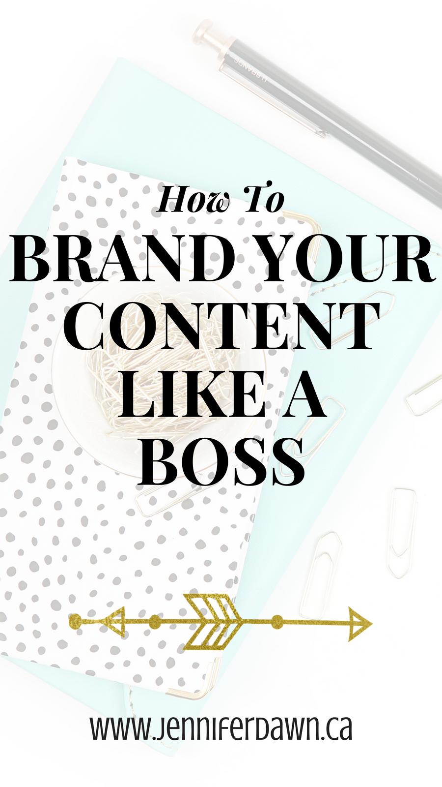 Brand Your Content, Branding Tips