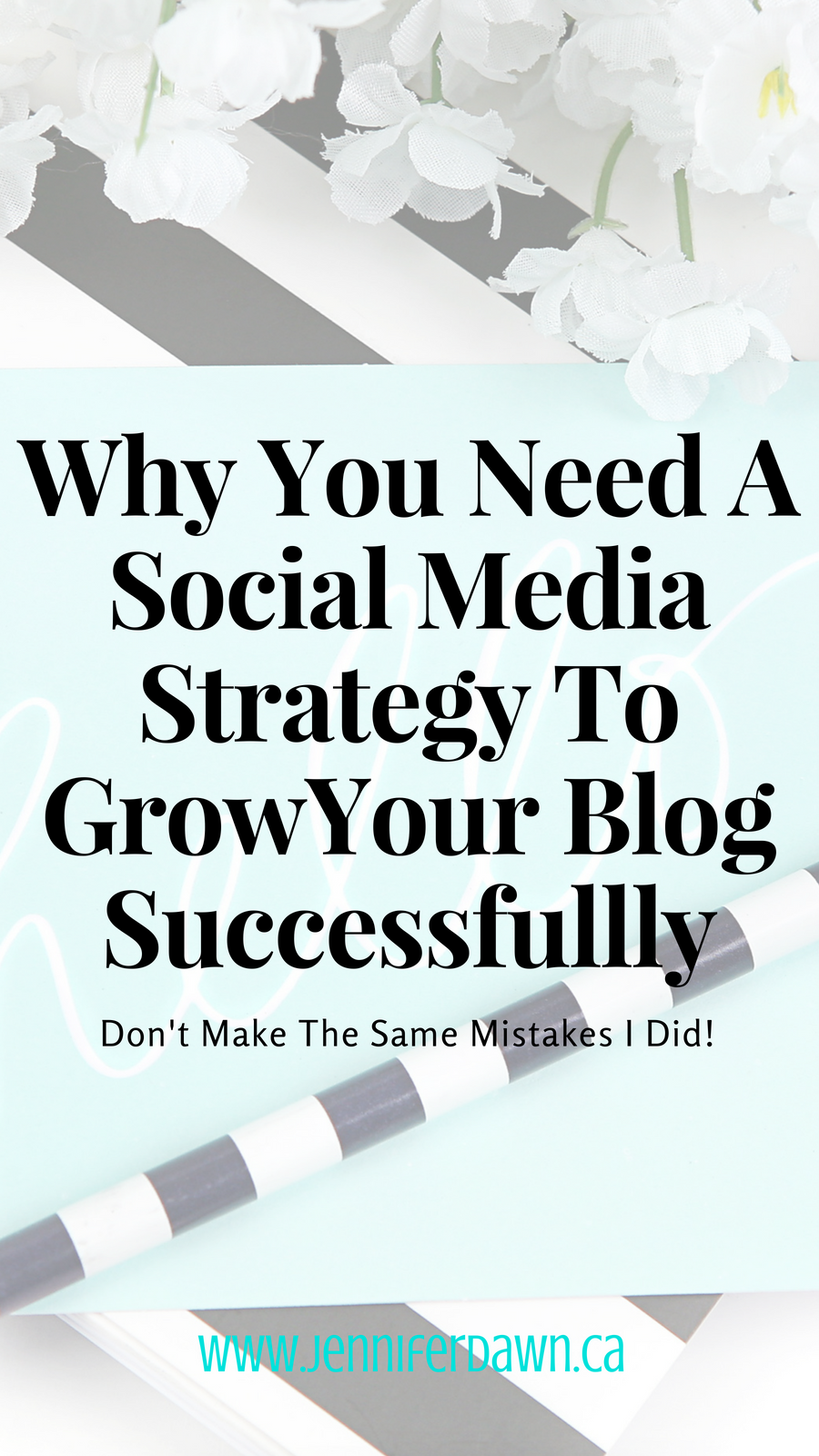 Hearing crickets everytime you launch a blog post?Why you need a social media strategy to successfully grow your blog. Don't make the same mistakes I did! #marketinghacks #socialmedia How To Grow Your Blog // Blogging Tips For Beginners // Social Media Strategy