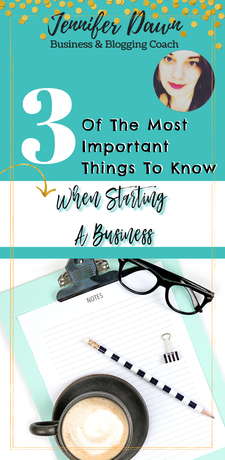 The 3 Most Important Things You Must Remember When Starting A Business. Thinking about starting  your own business? Find out what the 3 most important things are Small Business // Start A Business // Small Business Tips // Marketing for New Business