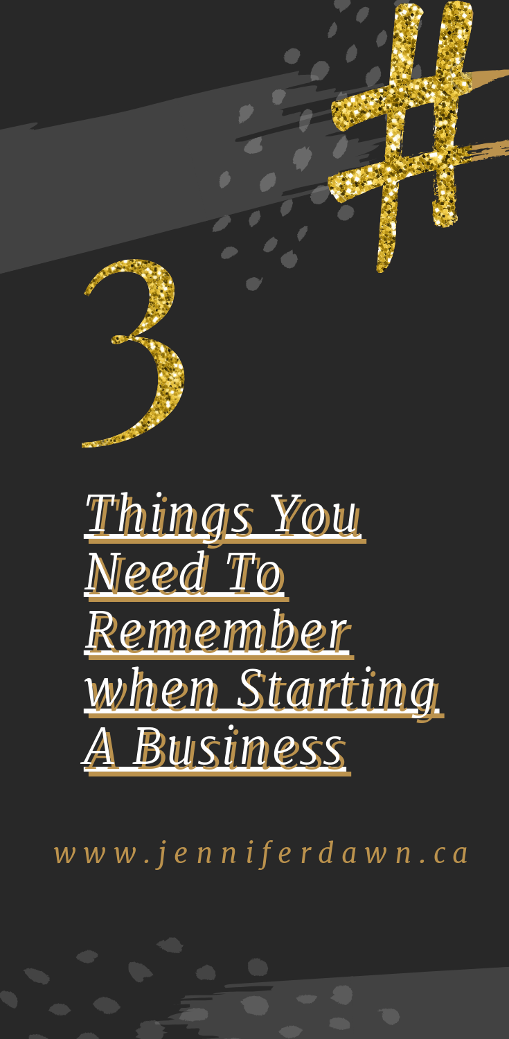 What You Need To Remember When Starting Your Own Biz! // Start A Business // Small Business Tips // Marketing for New Business