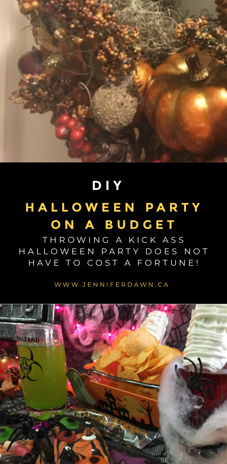 Throwing a kick ass Halloween Party does not have to cost a fortune! Check Out these awesome Diy Halloween Party Ideas. #halloween DIY Halloween Party Ideas // Kids Halloween Party Ideas // DIY Halloween Treats // Halloween Wreaths // Fun Halloween Party Ideas