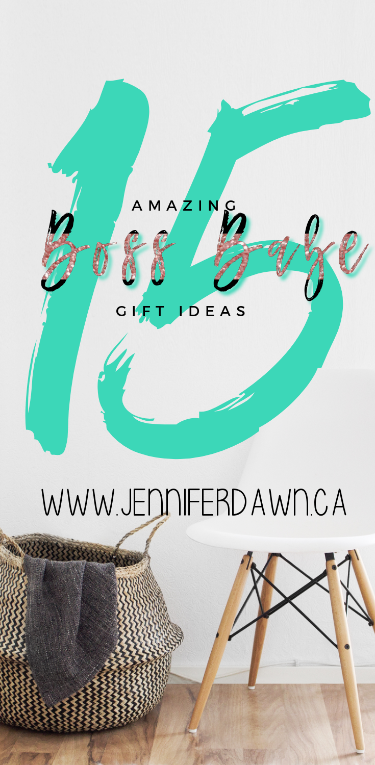Have A Boss Babe on your Christmas Gift List? Check out these 15 Gift Ideas For Boss Babes that are sure to please! Boss Babe Gift Ideas // Lady Boss // Girl Boss // Entrepreneur