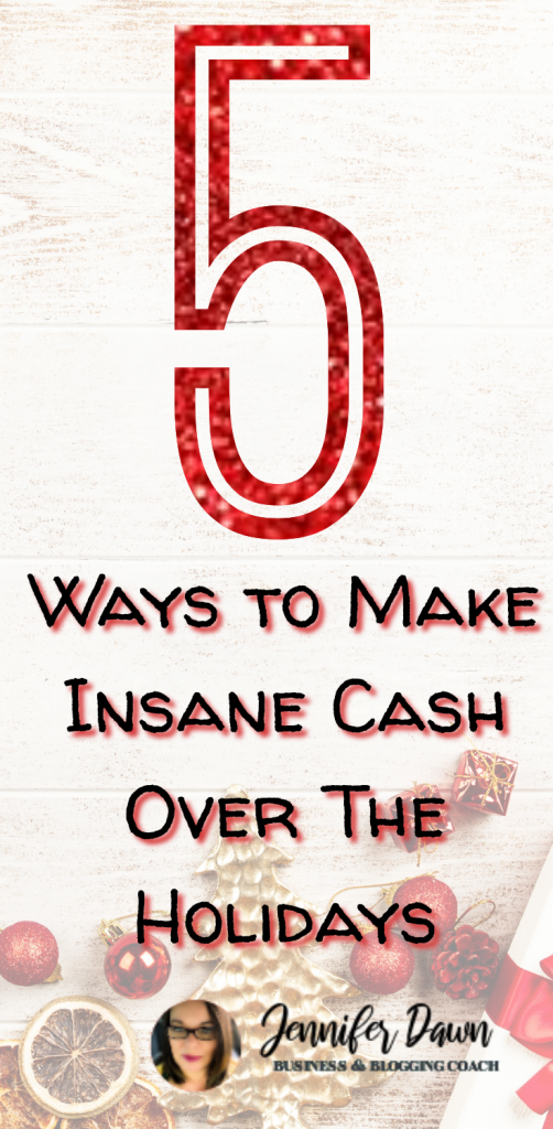 5 Ways To Make Insane Cash Over The Holidays! Looking to supplement your income over the holidays? Here are 5 ways you can earn some serious money over the holidays. #workfromhome #makemoney Affiliate Marketing For Beginners // Affiliate Marketing Without A Blog // Work From Home Jobs For Moms