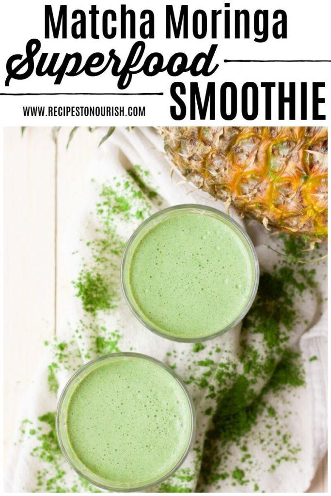 Matcha Moringa Superfood Smoothie