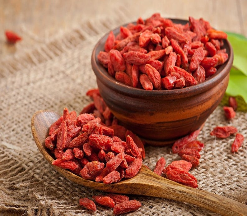Goji berries are also known as Lycium barbarum. The goji berry is native to Asia, and people in Asia have been using this brightly colored fruit for more than 2,000 years as a medicinal herb and food supplement.