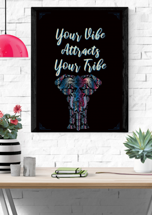 Your Vibe Attracts Your Tribe Printable // DIY Printable Home Decor // Motivational Poster // Instant Download