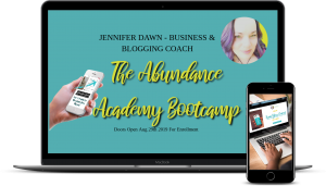The Abundance Academy Bootcamp with Business & Blogging Coach , Jennifer Dawn will open for registration on Aug 29th. Pre-register before then and receive a 50% discount as well as her signature course Pinning For Profit as a Bonus! Receive 8 weeks of Live training broken down in to easy to follow steps. Create a profitable business that you love! #pinterest #emailmarketing #blogging #entrepreneur #affiliatemarketing