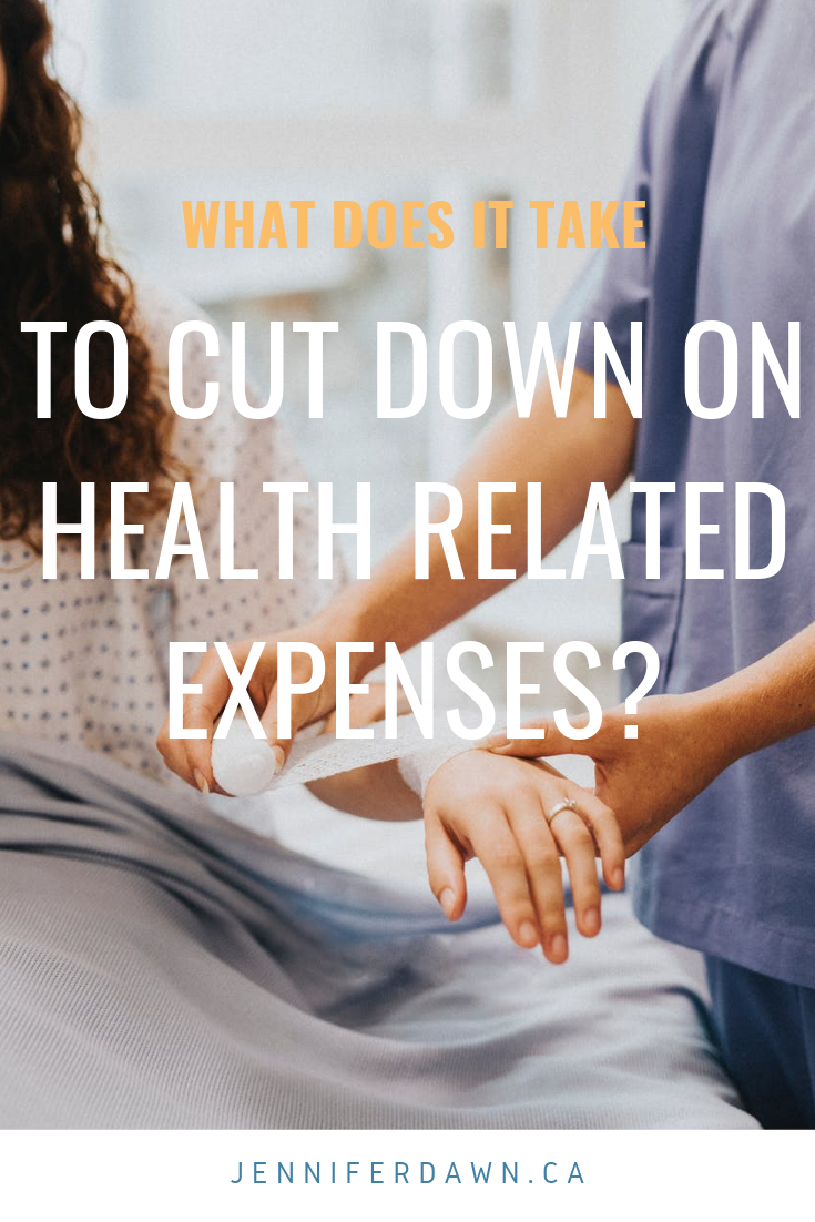 What does it take to cut down on health related expenses?