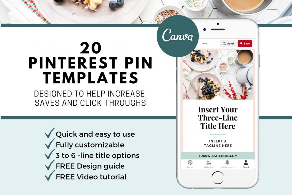 The secret to creating viral pins is a professionally branded image. Bring your social media marketing to the next level with these easy to edit social media templates. #marketing #bloggingtips #templates