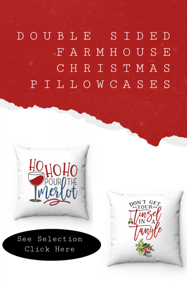 Farmhouse Christmas Decor Ideas - Double Sided Funny Christmas Pillow #christmasdecor #farmhousechristmas