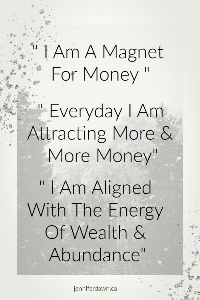 Money Affirmations for manifesting abundance, wealth & prosperity.