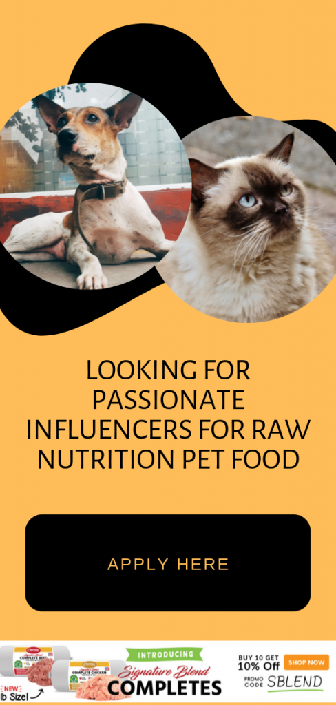 Raw Food Pet Nutrition Influencer - Pet Affiliate