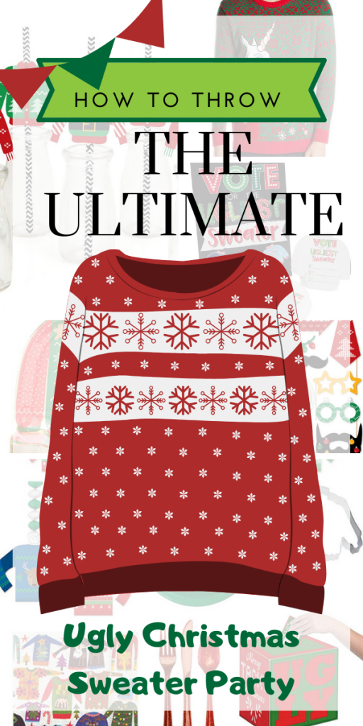 How To Throw The Ultimate Ugly Sweater Christmas Party - The tackiest Party this side of the Griswald's! Ugly Christmas Sweater Ideas For Couples . Ugly Christmas Sweater Party Decor , DIY Ugly Christmas Sweaters , Tacky Christmas Sweaters