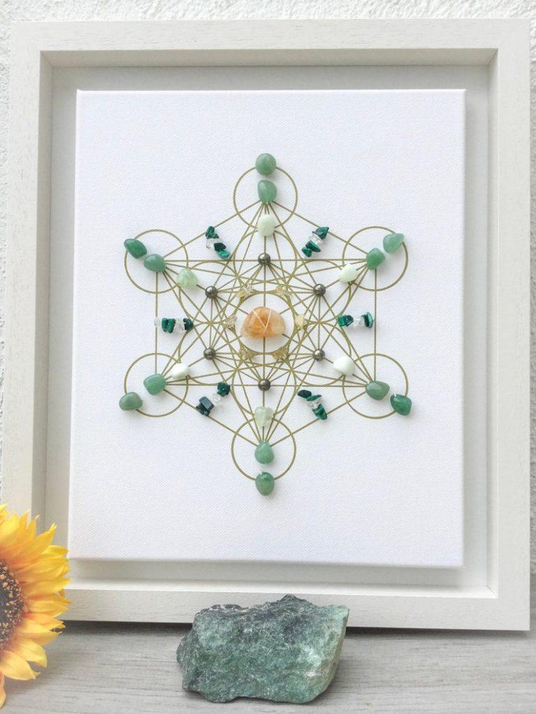 Crystal Grid For Manifesting Abundance , Wealth & Prosperity