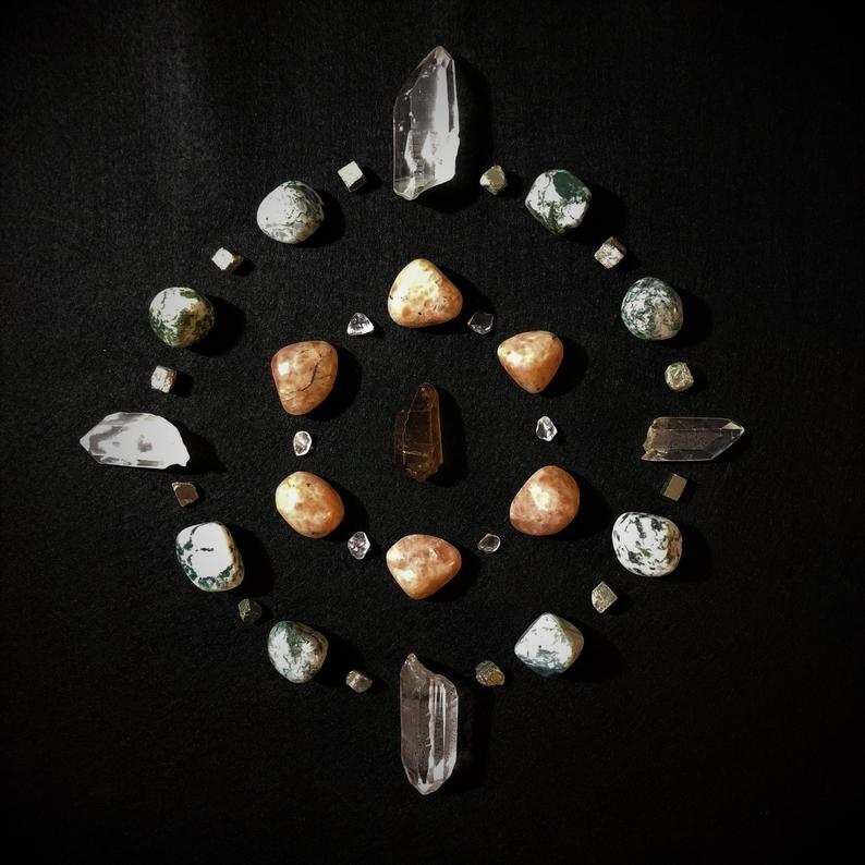 Crystal Grid For Manifesting Abundance
