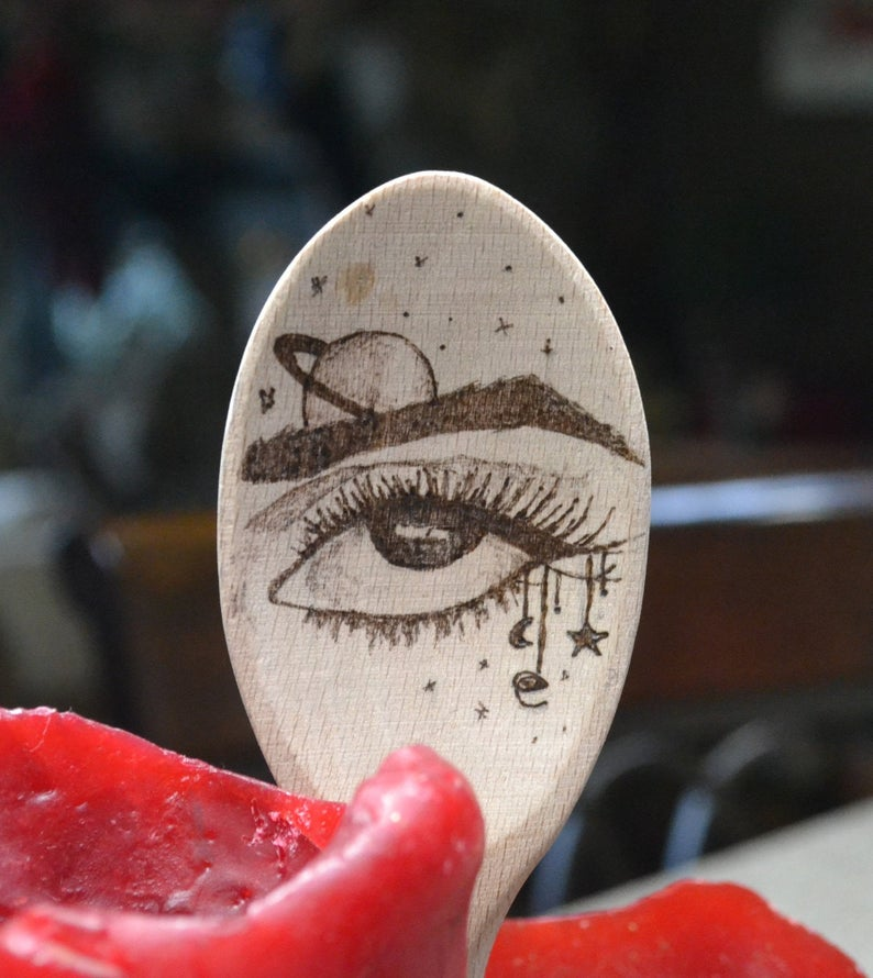 Wood Burn Witchy Spoons