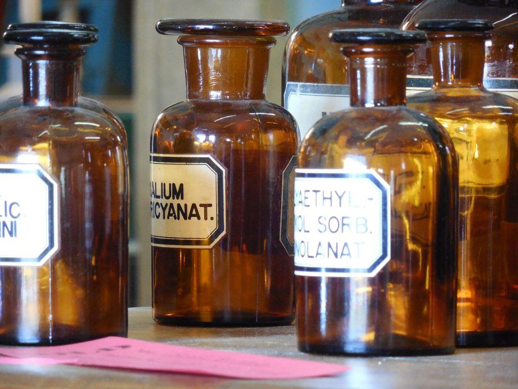 apothecary, bottles, medicine